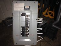 100 amp Siemens electrical breaker panel