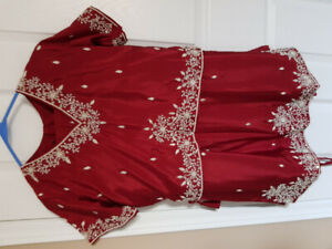 Red Indian lengha suit-one size- only worn once