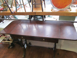 Duncan Fife Wood Hall Occasional Table with Harp Pattern Sides London Ontario image 2