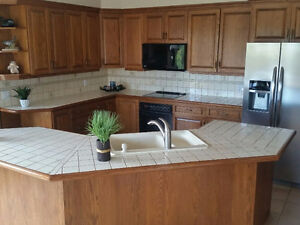 Pantry get a great deal on a cabinet or counter in for Oak kitchen units for sale
