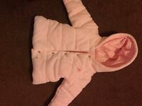 Next baby girls Coat 9-12 months