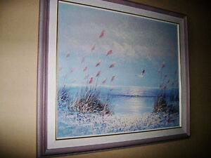 REDUCED !!!Canvas Painting of a Seaside Stratford Kitchener Area image 3