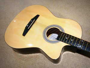 3/4 Size Acoustic Electric guitar - $125
