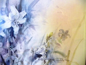 """Wildflower Lithograph, Signed by Brent Heighton """"Spring Lilies"""" Stratford Kitchener Area image 5"""