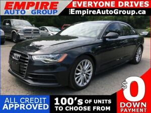 2012 AUDI A6 3.0T QUATTRO * AWD * LEATHER * NAV * REAR CAM * SUN