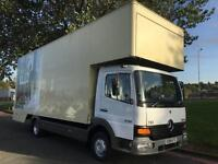 Mercedes Atego 815 7.5T 23ft Dropwell Luton Furniture Removal Van, No Vat to Pay