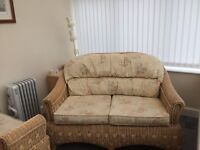 Rattan three piece set conservatory furniture