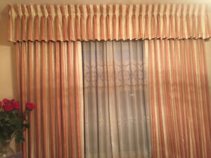 Curtains Full Length - 2 Sets with sheers & rods