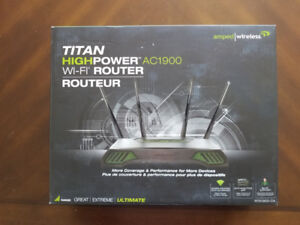 Amped High Power Wireless Router