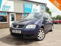 2006 Volkswagen Touran 1.9TDI ( 7 seater ) SE DIESEL ESTATE ONLY 66,000 WARRANTY