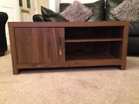 *** NEXT WALNUT CORNER TV UNIT WITH STORAGE - AS NEW CONDITION (COST £250) ***