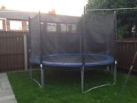 12 foot trampoline with enclosure and cover