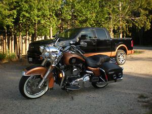 Matching Road King Classic Anniversary motorcycle and F150 p/u