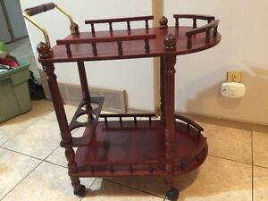 Wine Liquor Serving Bar Cart