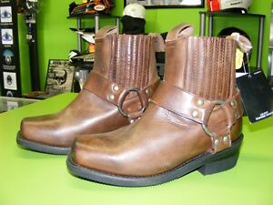 Ladies Brown Square Toe Harness Boots at RE-GEAR