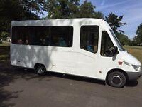 Mercedes sprinter 413cdi mini bus 18 seater