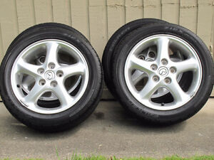4 X 195/60/R14 M&S All Season Falken Tires mounted on Mazda mags