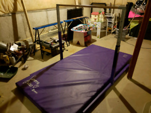 Gymnastics Bar and Mat