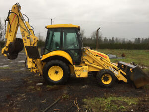 2002 New Holland LB75B Backhoe, Well Maintained