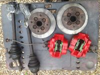 Classic mini 4 pot metro brake calipers and vented discs