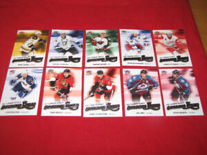 60 different Ultra hockey inserts: 2005-06 to 2008-09