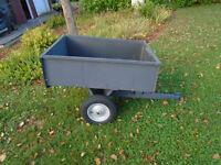 Remorque 38`` X 30`` dompeur pour tracteur a gazon