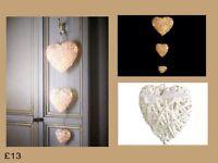 Set of 3 Light Up Rattan Hearts
