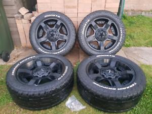 "Mazda BT50 20"" XD Series Alloy Wheels Monsta Terrain Tyres"