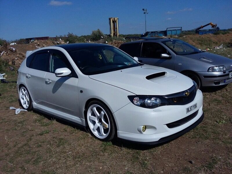 Subaru Impreza Wrx Modified Launch Look Pearl White Maybe