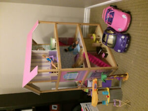 Double sided Barbie doll house
