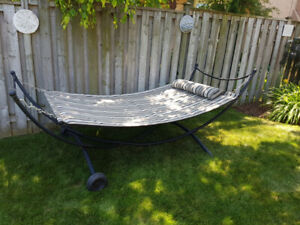 Hammock Bed with wheeled stand - like new