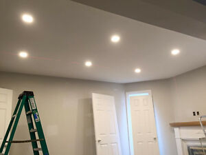 POT LIGHTS INSTALLATION $50 - licensed electrician Cambridge Kitchener Area image 2