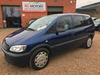 2003(53) Vauxhall Zafira 2.0 DTi 16v Club Blue 7 Seater People Carrier,