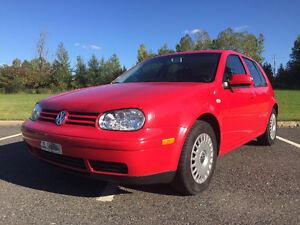 2002 Volkswagen Golf GLS + pneus d'hiver neufs