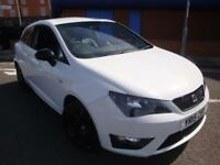 15 SEAT IBIZA 1.2 TSI ( 105ps ) SPORT COUPE FR BLACK// £30 TAX//