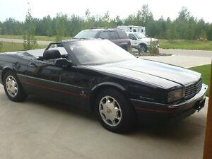 Last Year of the Cadillac Allante-all original triple black!!!!