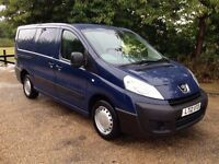 PEUGEOT EXPERT LW BASE 1.6 2012 DIESEL 2 SLIDING DOOR YEARS MOT LIKE NEW.LOW MILES 59K..NO VAT..