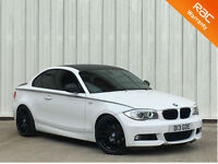 BMW 118 2.0TD 2011MY d M Sport IN WHITE + RED LEATHERS+PX SWAP FINANCE AVAILABLE