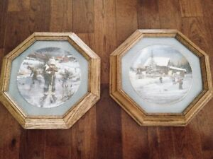 Dreams of Glory & Night Game Framed Collectible Plates $40 each