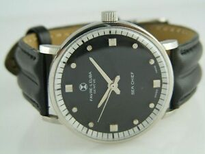 ANTIQUE FAVRE LEUBA GENEVE SEA CHIEF WINDING SWISS MENS WATCH~VERY RARE MOVEMENT