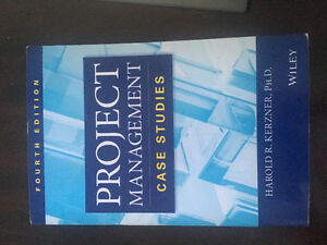Text book Project Management Case Studies by Harold R. Kerzner