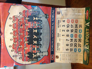 Calendrier 1969 Canadiens 50$