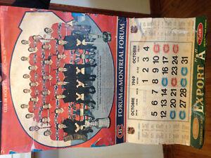 Calendrier 1969 Canadiens 50$