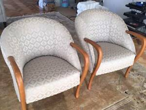French designer armchairs x2 Darling Point Eastern Suburbs Preview