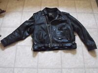 Black Leather Mens Motorcycle Jacket