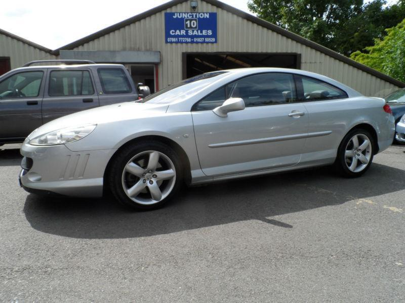 peugeot 407 2 7hdi v6 gt coupe 07 plate full leather sat nav xenons 2007 in tamworth. Black Bedroom Furniture Sets. Home Design Ideas