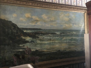 Huge oil painting in ornate frame