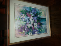 Floral picture.  Oil and canvas