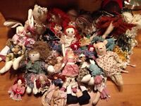 Collection of rag dolls