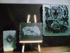 Custom handmade glass etchings $25 and up